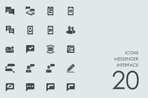 Messenger interface icons