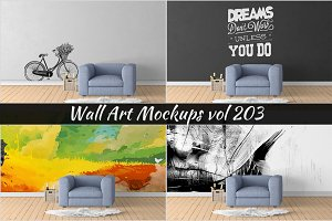 Wall Mockup - Sticker Mockup Vol 203