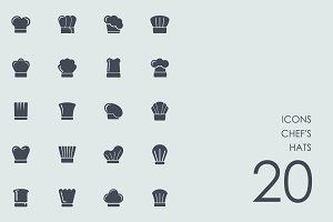 Chef's hats icons