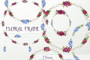 Floral Frame ClipArt,Bouquet F-18