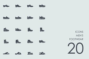 Men's footwear icons