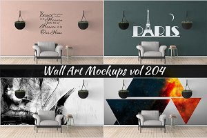 Wall Mockup - Sticker Mockup Vol 204