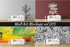 Wall Mockup - Sticker Mockup Vol 205