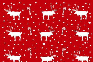 deer and cane candy pattern