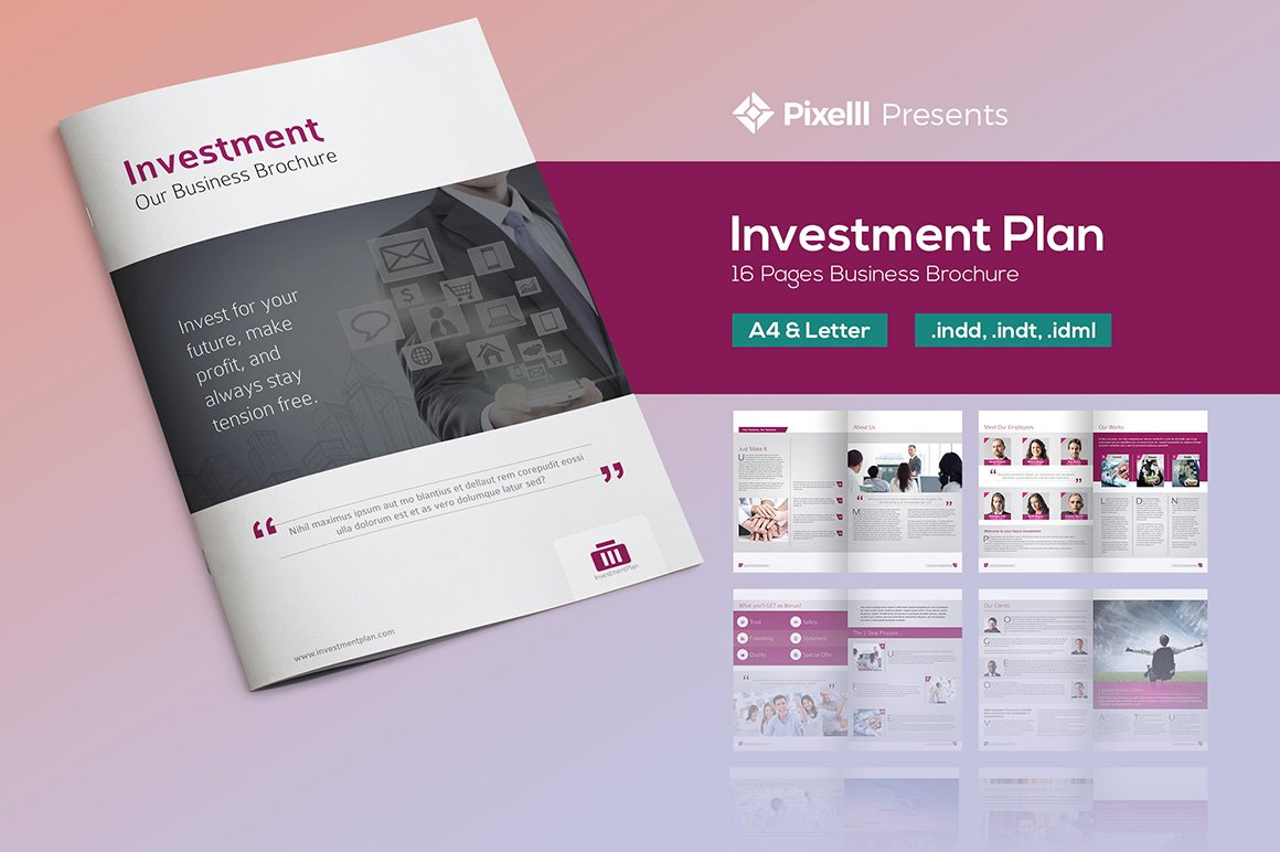 Investment Plan Business Brochure Brochure Templates