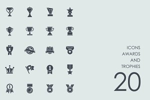 Awards and trophies icons