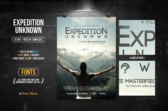 Expedition Unknown Flyer Poster