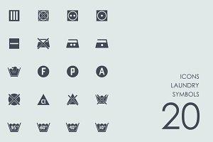 Laundry symbols icons