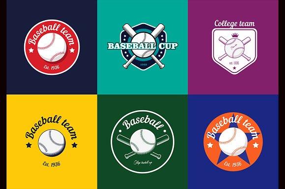 Vintage Baseball Logos And Badges