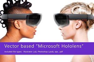 Microsoft Hololens - vector graphic