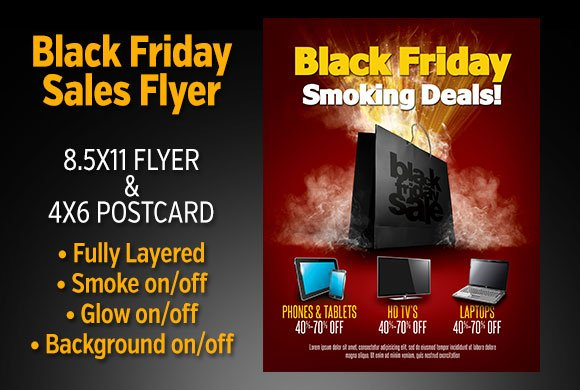 black friday sales flyer set flyer templates creative market