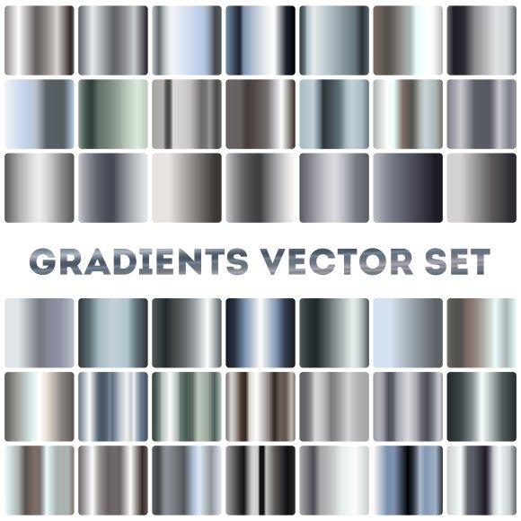 Silver Steel Chrome Gradients Set