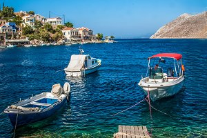 Motor boats / Simy / Greek Island