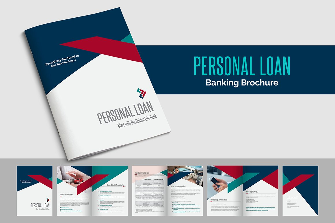 Personal loan banking brochure brochure templates for Personal brochure templates