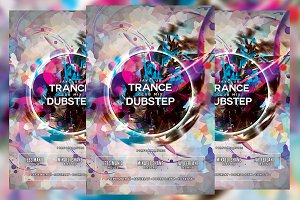 Trance Dubstep Party Flyer