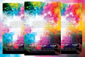 Abstract Spectrum Club Flyer