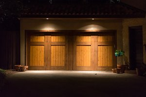 Doors with dramatic lighting