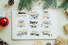 Xmas & New Year Lettering Set