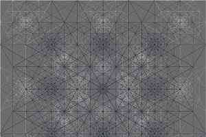 Hexagon Grid Pattern Blue Gray White