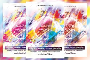 Dance Party Colors Flyer