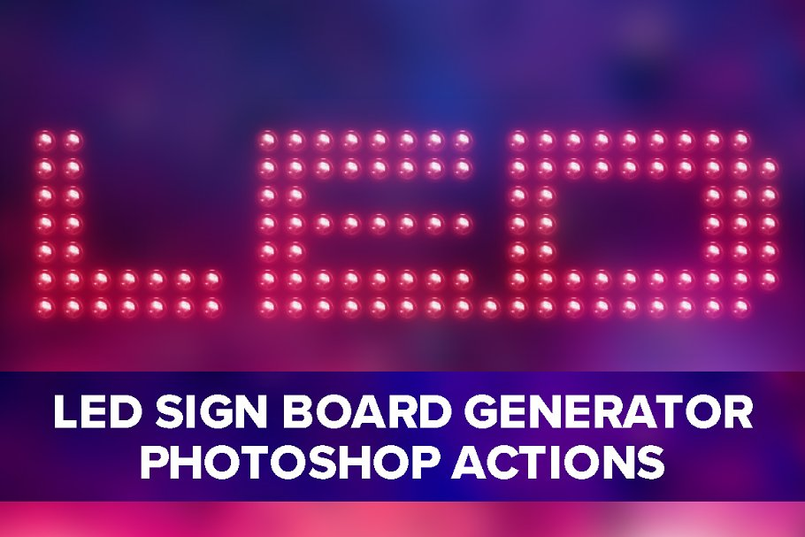 Led Sign Board Generator ~ Photoshop Add-Ons ~ Creative Market