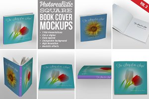 Square Book Cover Mockup 03