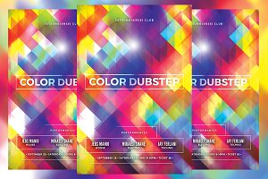 Color Dubstep Flyer