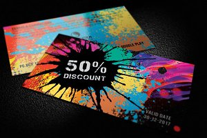 COLORFUL - gift voucher card