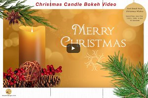 Christmas Candle Bokeh Video
