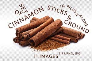 Set of cinnamon