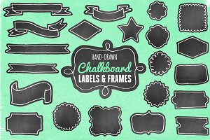 Hand-Drawn Chalkboard Labels/Frames