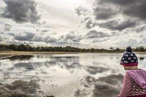 Girl at Pond