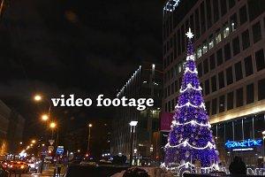Christmas tree on the street