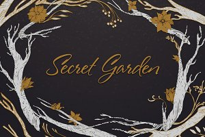 Secret garden - floral collection.