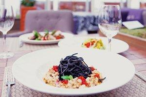 Black squid ink pasta