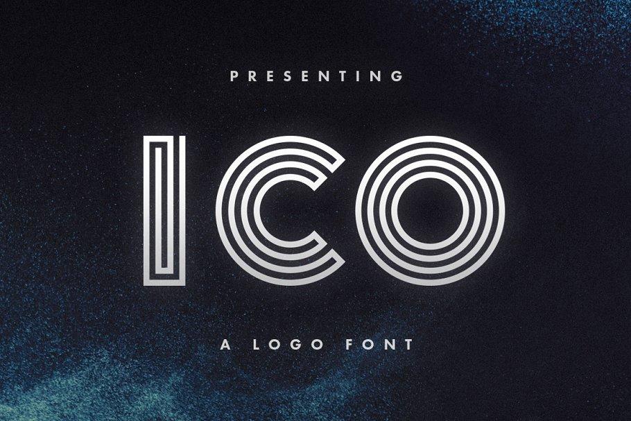 Ico - Logo Font ~ Display Fonts ~ Creative Market