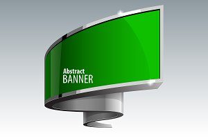 Shiny glossed green banner