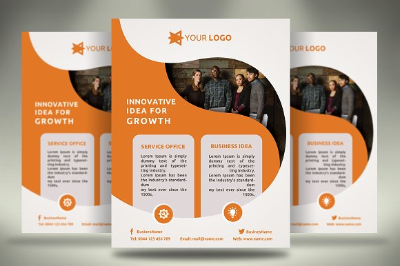 business flyer flyer templates creative market