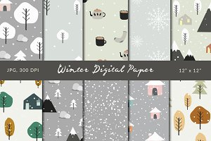 Winter - Digital Papers