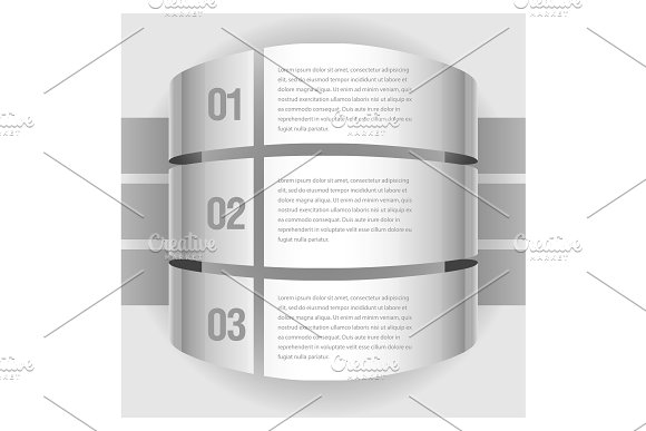 Gray infographic template