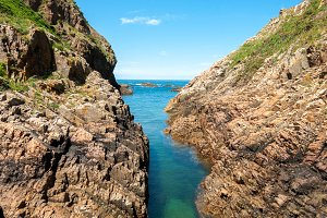 Natural waterway, Cudillero,Asturias