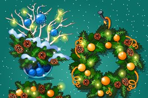 Christmas decoration cards