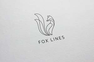 Fox Lines Logo Template