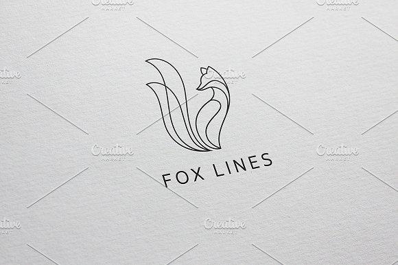 fox lines logo template logo templates creative market