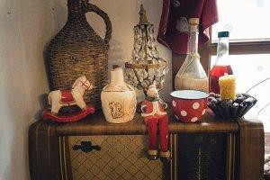 Vintage Christmas shelf