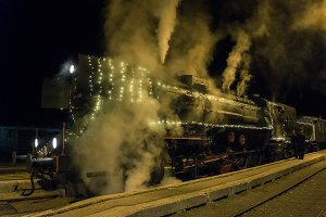 Steam train ready for Christmas