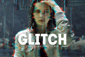 Pro Glitch Photoshop PSD Template