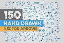 150 Hand Drawn Vector Arrows
