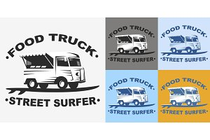 Food truck emblems and logo