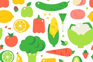 Assorted vegetables pattern